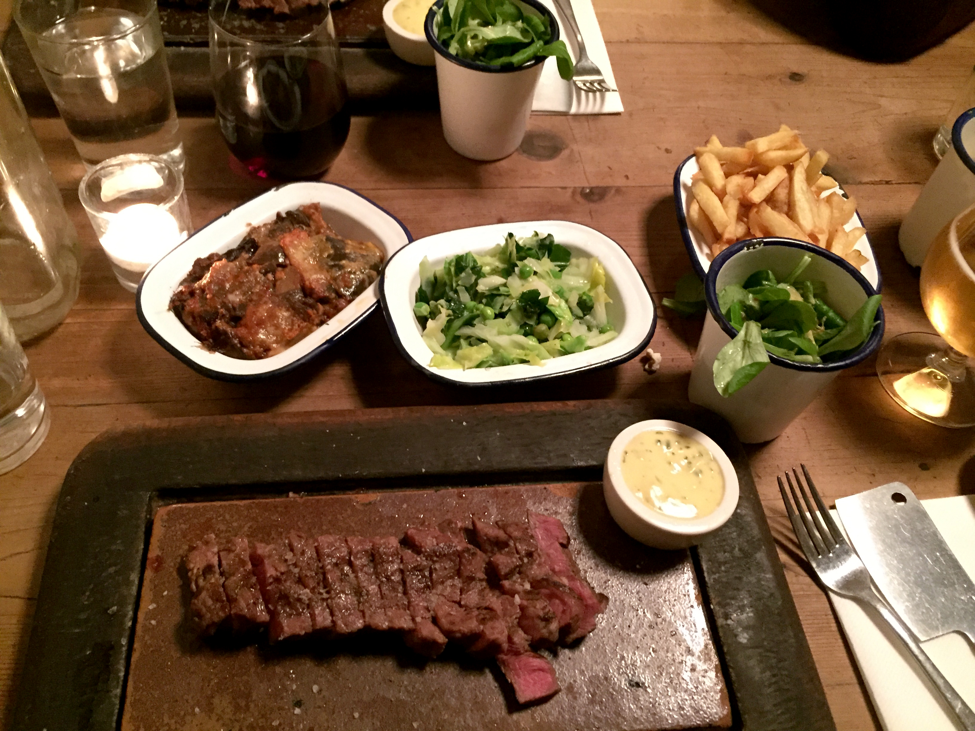 my steak and sides